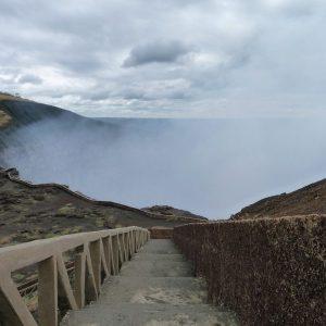 Cráter del volcán